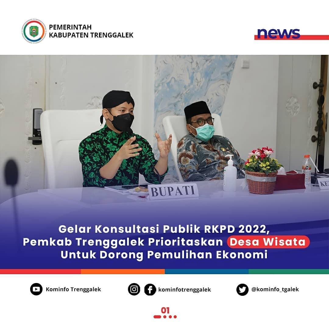 Gelar Konsultasi Publik RKPD 2022, Pemkab Trenggalek Prioritaskan Desa Wisata Untuk Dorong Pemulihan Ekonomi