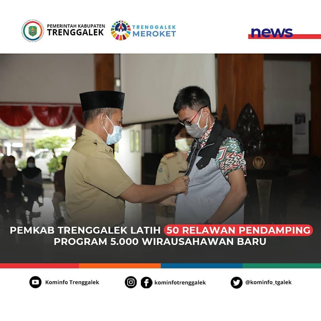 Pemkab Trenggalek Latih 50 Relawan Pendamping Program 5000 Wirausahawan Baru