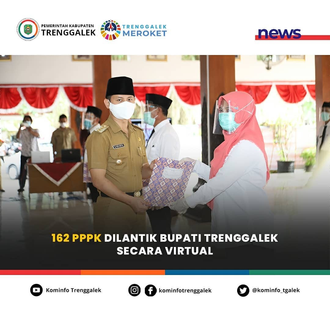 162 PPPK Dilantik Bupati Trenggalek Secara Virtual