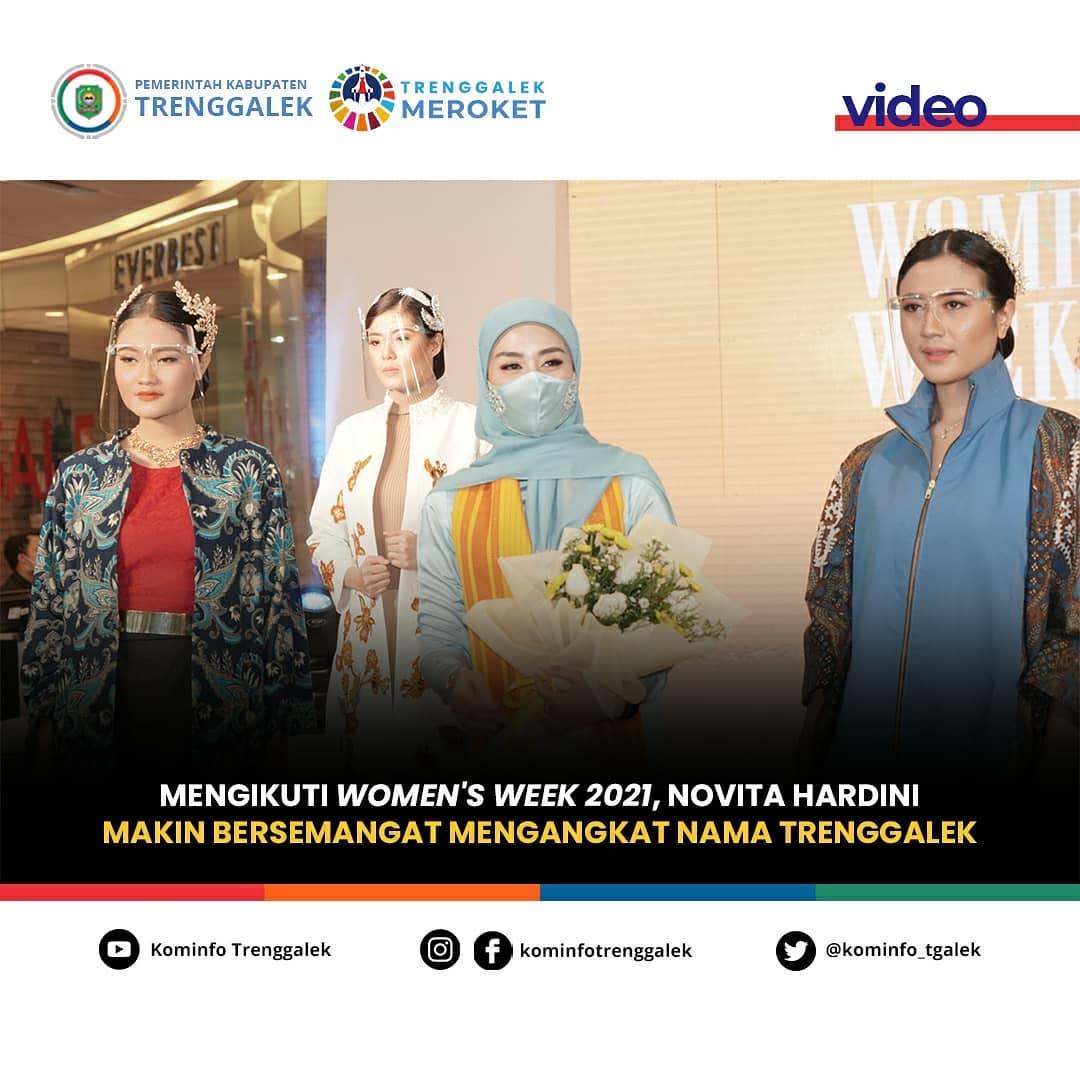 Mengikuti Women's Week 2021, Novita Handini Makin Bersemangat Mengangkat Nama Trenggalek