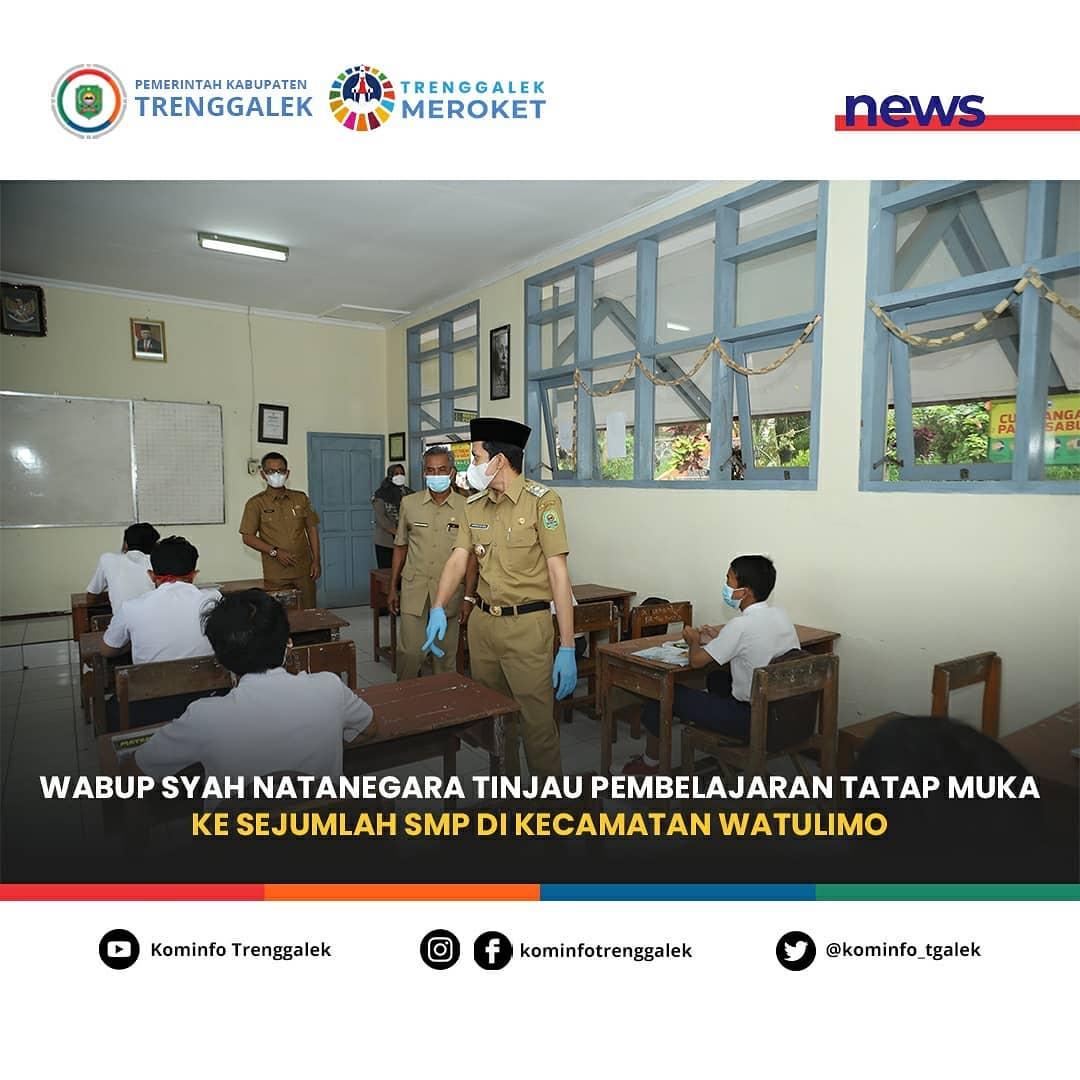 Wabup Syah Natanegara Tinjau Pembelajaran Tatap Muka Ke Sejumlah SMP Di Kecamatan Watulimo