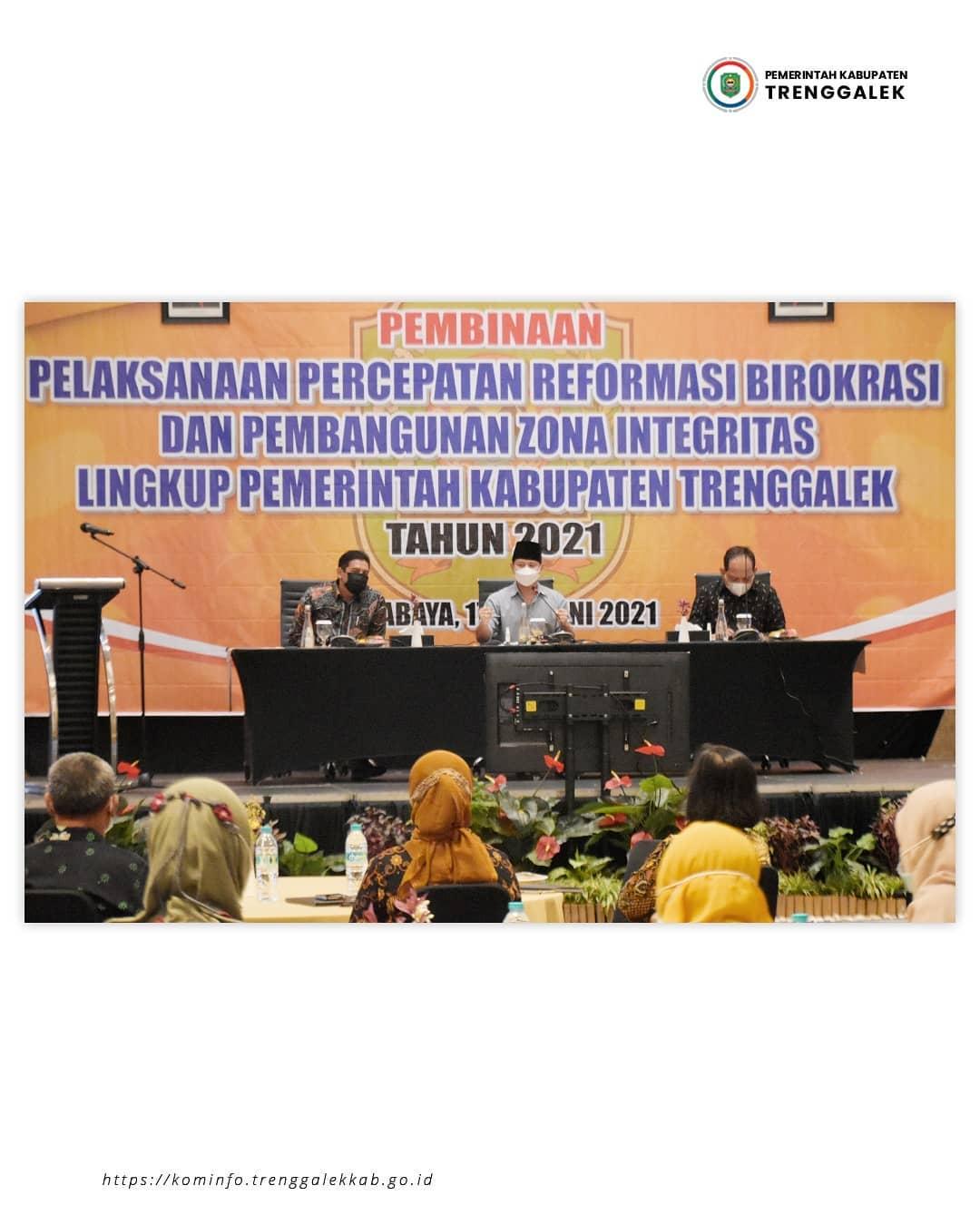 Bupati Nur Arifin Dorong ASN Pemkab Trenggalek Bekerja Dengan Kolaboratif