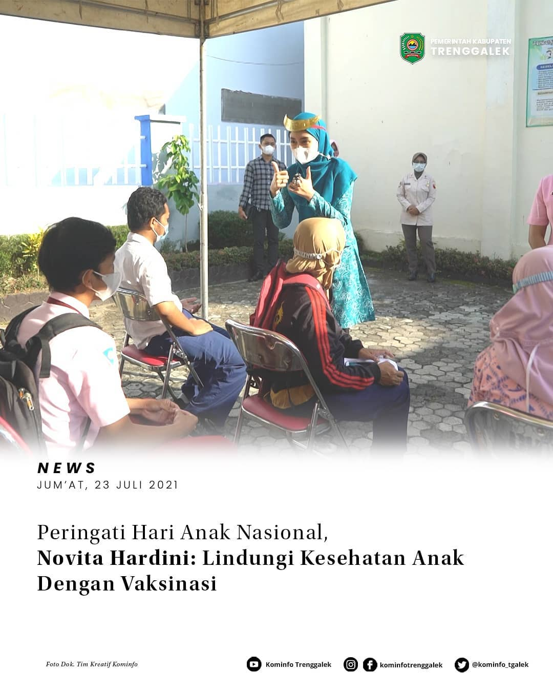 Peringati Hari Anak Nasional, Novita Hardini: Lindungi Kesehatan Anak Dengan Vaksinasi