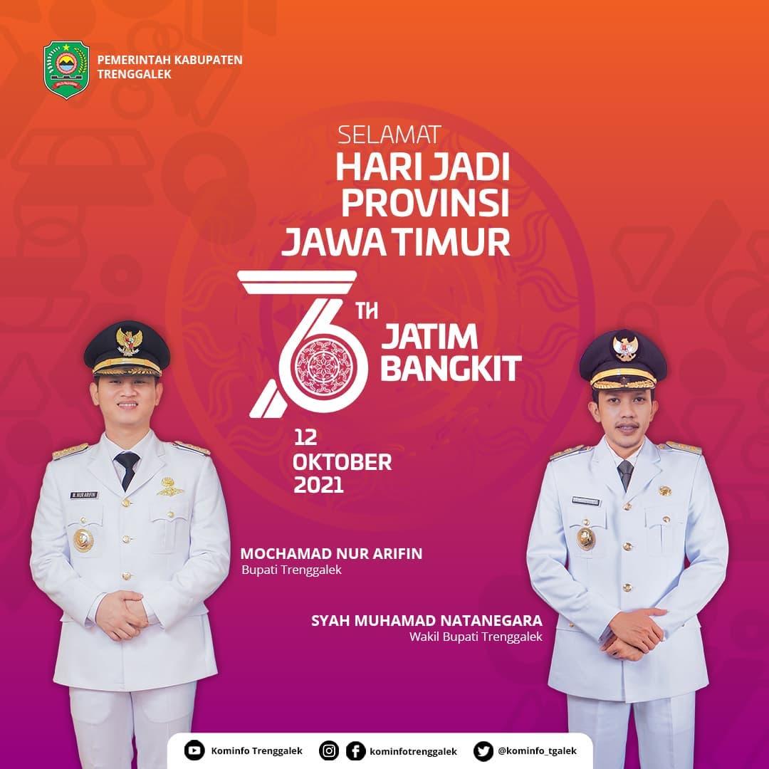Selamat Hari jadi Provinsi Jawa Timur 76 Tahun Bangkit