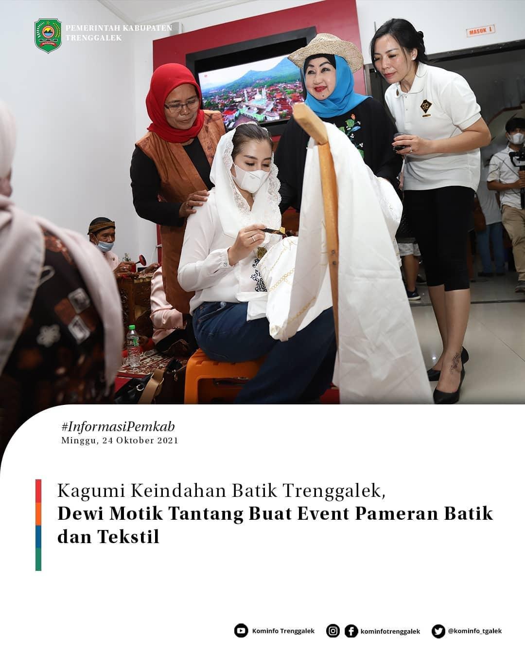 Kagumi Keindahan Batik Trenggalek, Dewi Motik Tantang Buat Event Pameran Batik dan Tekstil